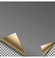 Folded black foil blank note planner vector image vector image