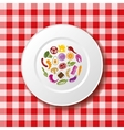 food on plate vector image vector image