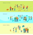 Friendship Banners Set vector image vector image