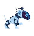 futuristic robot dog cartoon electronic robotic vector image