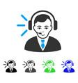 gladness call center operator icon vector image vector image