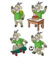 goat cartoon set vector image vector image