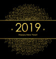 gold new year vector image