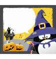 halloween penguin vector image vector image