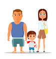 Happy family dad mom and son vector image vector image