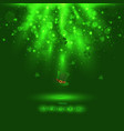 happy stpatricks day with stars and light on vector image vector image