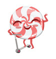 hard candy on scooter cute anime humanized cartoon vector image vector image