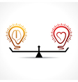 Heart and brain equality concept vector image vector image