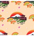 japanese abstract background with fans vector image