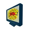 LCD Plasma TV Television Blam vector image