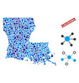 louisiana state map connections collage vector image