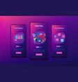 marketing app interface template vector image vector image