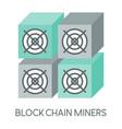 mining hardware mining machine vector image vector image