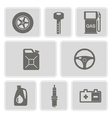 monochrome set with cars icons vector image vector image