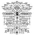 Navajo Aztec Tribal ethnic ornament vector image vector image