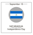 Nicaragua Independence Day vector image vector image