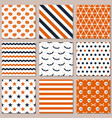 nine different seamless patterns for halloween vector image vector image