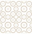Pattern of Stylized Copper Wire Buttons vector image vector image