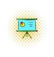 Presentation screen icon comics style vector image vector image