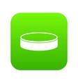 puck icon digital green vector image vector image