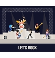 Rock band music group concert vector image vector image