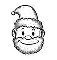 Santa head vector image vector image