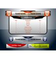 scoreboard game sport vector image vector image