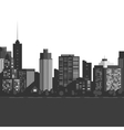 Seamless modern city vector image