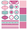 Set for wedding design vector image