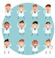 Set of doctors1 vector image vector image