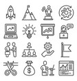 startup and business solution icons set line vector image