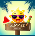 summer sale template design vector image vector image