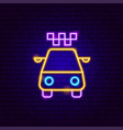 taxi neon sign vector image