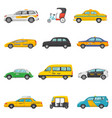 taxi taxicab transport and yellow car vector image