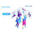 teamwork visualization concept background vector image