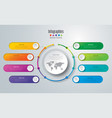 timeline infographics design with 8 options vector image