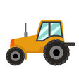tractor icon flat style isolated on white vector image vector image