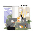 unhealthy lifestyle flat style design vector image