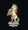 unicorn horse colorful graphic vector image vector image