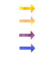 watercolor arrows vector image vector image