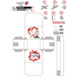 white basket template with doctor and nurse for a vector image
