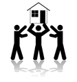 Winning a house vector image