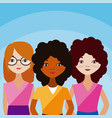 womens friends cartoons vector image vector image
