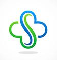 abstract S decorative logo vector image