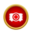 Camera icon in simple style vector image