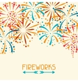 Background with abstract fireworks and salute vector image
