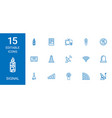 15 signal icons vector image vector image