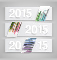 2015 made by paper vector image vector image