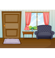 A clean living room vector image vector image