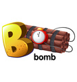 A letter B for bomb vector image vector image